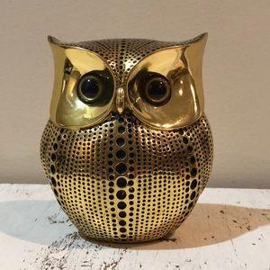Decorative Gold Owl Figure